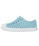 Native Jefferson Youth Sky Blue & Shell White Kids Shoes