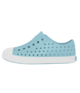 Native Jefferson Youth Sky Blue & Shell White Kids Shoes