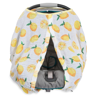 Little Unicorn Cotton Muslin Car Seat Canopy Lemon