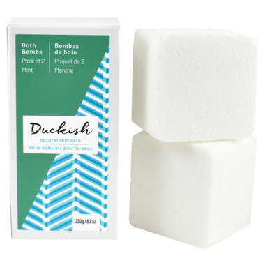 Duckish Natural Skin Care Mint Bath Bombs 2 Pack