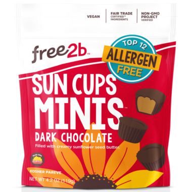 Free2b Sun Cups Minis Dark Chocolate