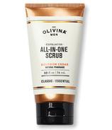 Olivina Men Exfoliating All-in-One Scrub Bourbon Cedar 2.5 oz