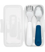 OXO Tot On the Go Fork & Spoon in Travel Case Navy