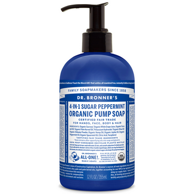 Dr. Bronner\'s 4-in-1 Sugar Peppermint Organic Pump Soap
