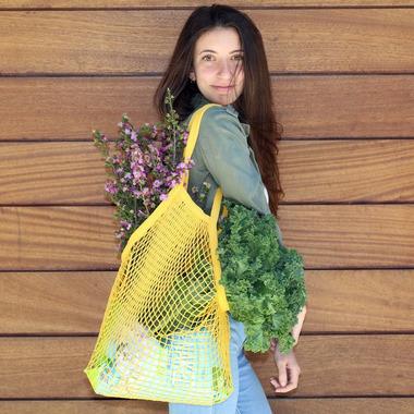 Kikkerland Cotton Market Bag (Assorted Colours)
