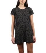 BRUNETTE The Label Tee Dress Slate Leopard