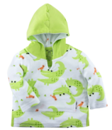 ZOOCCHINI Baby Terry Swim Coverup Alligator