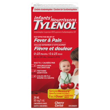 Infants\' Tylenol Fever & Pain Suspension Drops Cherry