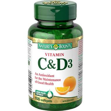 Nature\'s Bounty Vitamin D & Vitamin C