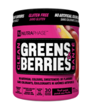 NUTRAPHASE Clean Greens & Berries Fruit Punch
