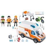 Playmobil City Life ambulance avec lumières clignotantes