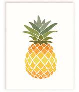 mavisBLUE Pineapple Print