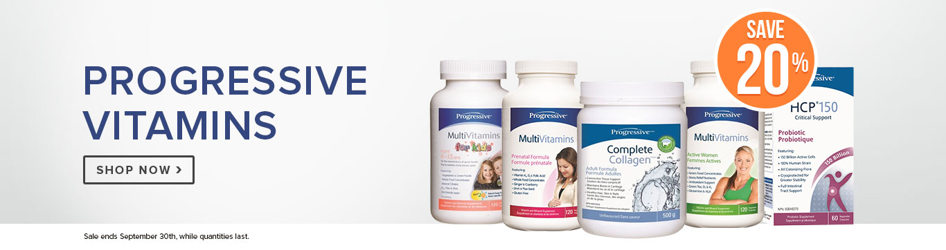 Save 20% on Progressive Vitamins