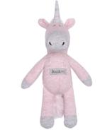 Juddlies Organic Raglan Rattle Dogwood Pink Unicorn