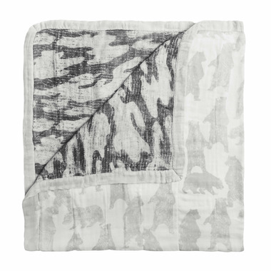 aden + anais Bamboo Silky Soft Dream Blanket Foragers Bear