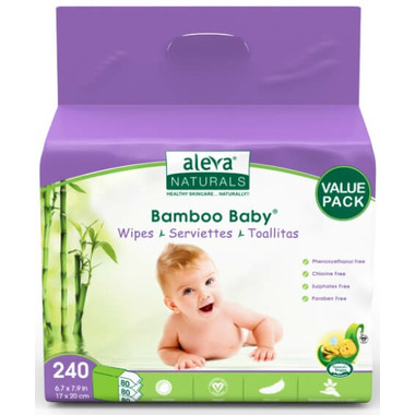 Aleva Naturals Bamboo Baby Wipes Value Pack