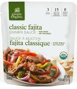 Simply Organic Simmer Sauce Classic Fajita