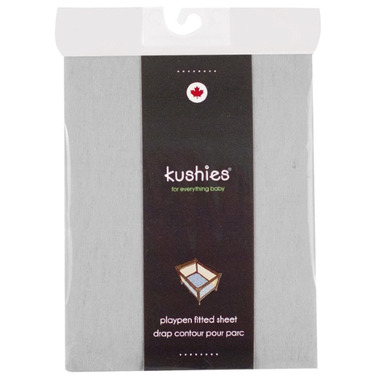 Kushies Portable Playpen Fitted Sheet Grey