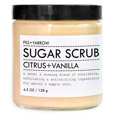 Fig + Yarrow Citrus Vanilla Travel Sugar Scrub