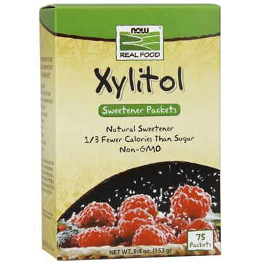 NOW Real Food Pure Xylitol Packets