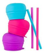 Boon Snug Straw Lids Pink Multi
