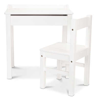 Melissa & Doug Child\'s Lift-Top Desk & Chair with Sturdy Wooden