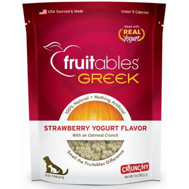 Fruitables Greek Crunch Dog Treats Strawberry Yogurt Flavour