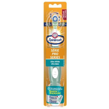 Arm & Hammer Spinbrush Pro Series Ultra White Battery Powered Toothbrush