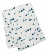 Lulujo Bamboo Muslin Swaddle Navy Triangles