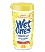 Lingettes Wet Ones antibactériennes pour les mains et le visage