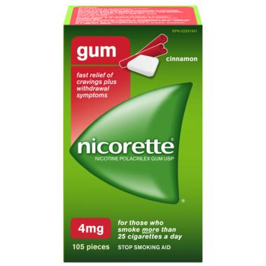 NICORETTE Gum Cinnamon 4mg