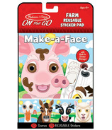 Melissa & Doug On the Go Make-a-Face Farm Reusable Sticker Pad