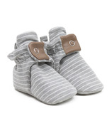 Robeez Snap Bootie Grey Stripe
