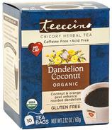 Teeccino Dandelion Coconut Roasted Herbal Tea