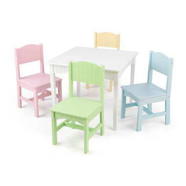 KidKraft Nantucket Table & Chair Set Pastel