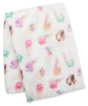 Lulujo Swaddle Blanket Bamboo Cotton Ice Cream