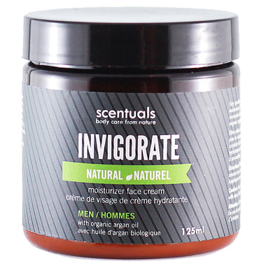 Scentuals Men\'s Invigorate Natural Moisturizing Face Cream