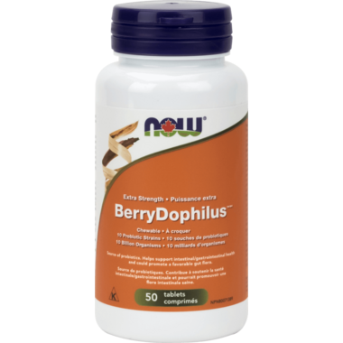 NOW Foods Extra Strength BerryDophilus Chewables