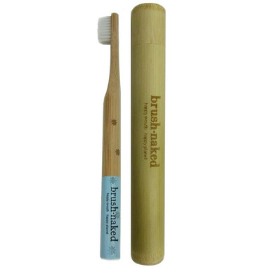 Brush Naked Winter Toothbrush Soft with Bamboo Travel Tube