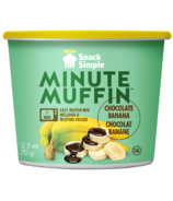 Snack Simple Banana Chocolate Minute Muffin