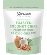 Chips de noix de coco grillées biologiques de Rockwell's Whole Foods