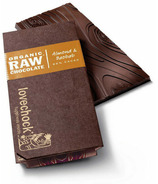 LoveChock Almond and Baobab Raw Organic Chocolate Tablet