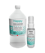 Happy 59ml and 950ml Hand Sanitizer Bundle