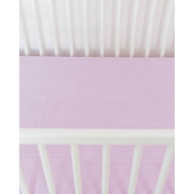 Little Unicorn Cotton Muslin Crib Sheet Pink Lilac