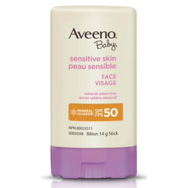 Aveeno Baby Sensitive Skin Face Mineral Sunscreen Stick SPF 50