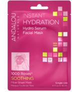 ANDALOU naturals masque en feuille pour le visage à hydratation instantanée