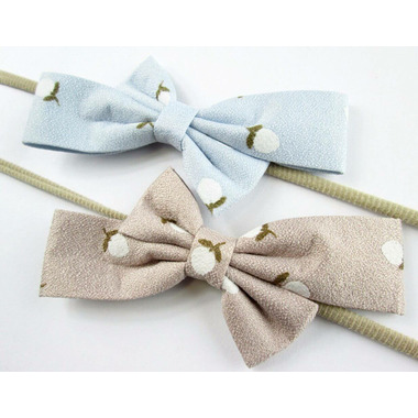 Baby Wisp Acorn Print Headband Bows