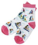 Hatley Little Blue House Kids Socks Pretty Sailboats