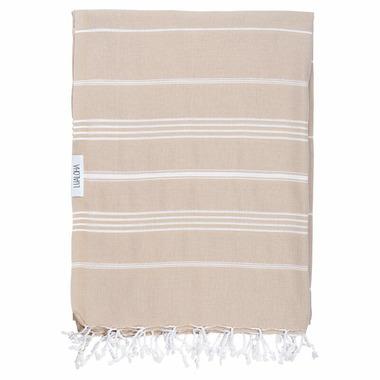 Lualoha Turkish Towel Classic Blanket Collection Sand