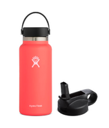 Hydro Flask Wide Mouth Bottle & Straw Lid Hibiscus Bundle